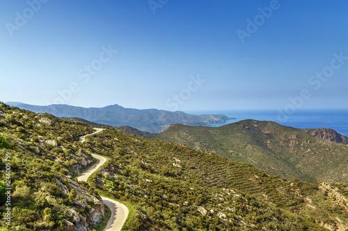 Fotomural Mountain range Serra de Rodes, Spain