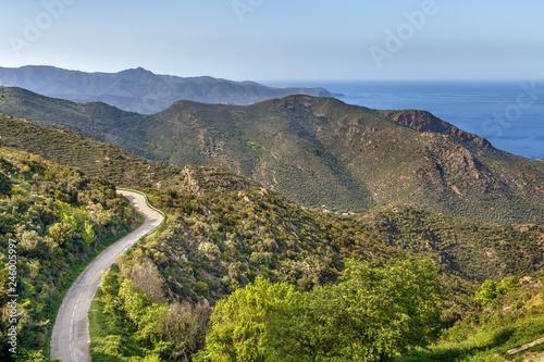 Mountain range Serra de Rodes, Spain Fototapet