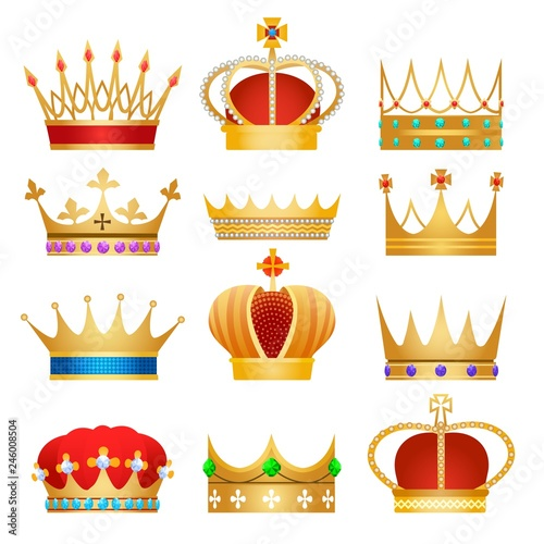 Photo Gold king crowns