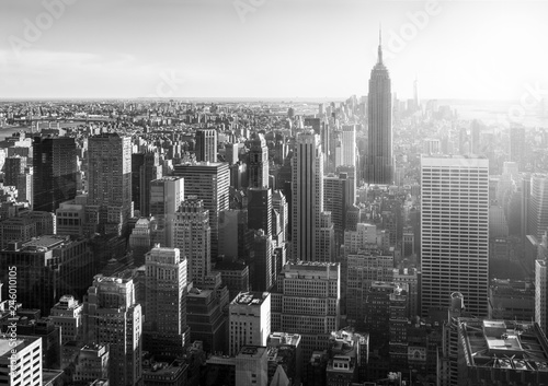 Poster New York City New York City in Schwarz Weiss, USA