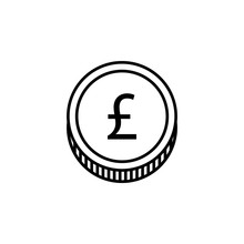 Coin, Pound Icon. Element Of Finance Illustration. Signs And Symbols Icon Can Be Used For Web, Logo, Mobile App, UI, UX