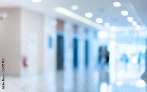 Fotografering  Hospital Hallway Blurred Background