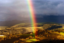 Breathtaking Rainbow Emerging ...