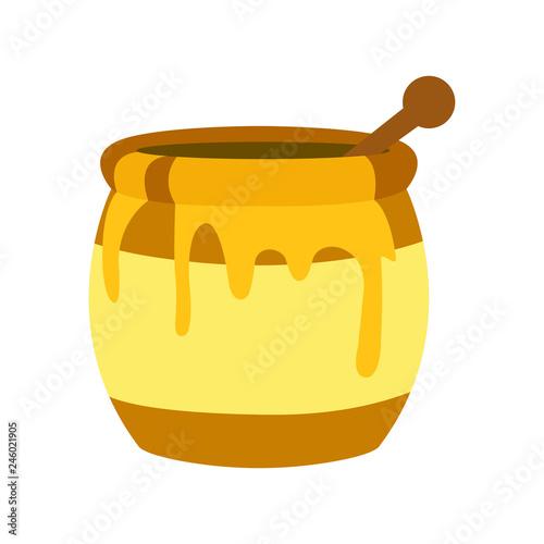 Obraz na płótnie honey pot jar emoji vector
