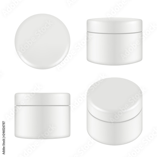 Cosmetic Package Rounded Cleaning Cream Plastic Tube Box