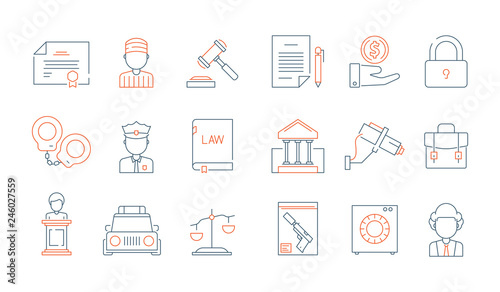 Law thin symbols  Licence accounting legal justice lawyer