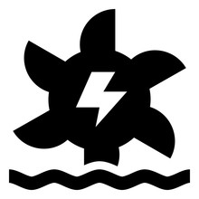 Hydroelectric Power Vector Icon