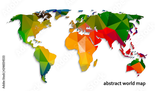 abstract-world-map-of-polygons-vector-illustration
