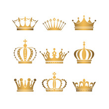 Set Of Gold Crowns.