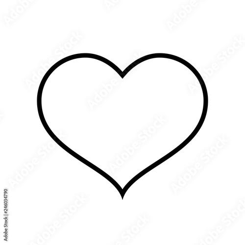 Heart line icon Canvas-taulu