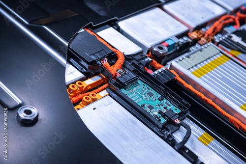 EV car battery pack Canvas Print