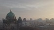 Aerial drone footage in Berlin with a focus on the famous Cathedral called Berlin Dom