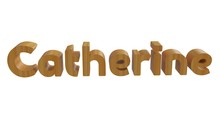 Catherine Name In 3d Decorativ...