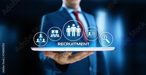Fototapeta Recruitment Career Employee Interview Business HR Human Resources concept obraz