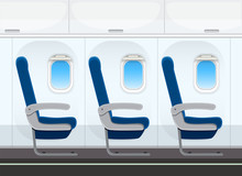 Airplane Seat In The Cabin