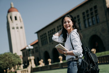 Asian Female College Student Study Abroad