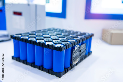 Lithium ion industrial high current batteries Fototapete