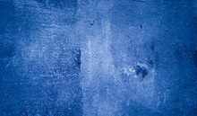 Rough Texture Panted Blue Wall