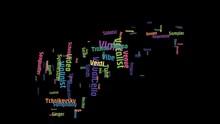 Violin Word Art Cloud Video Te...