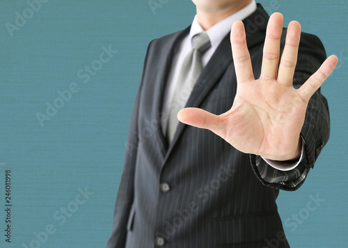 Photo 拒否するビジネスマン
