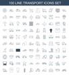 100 transport icons