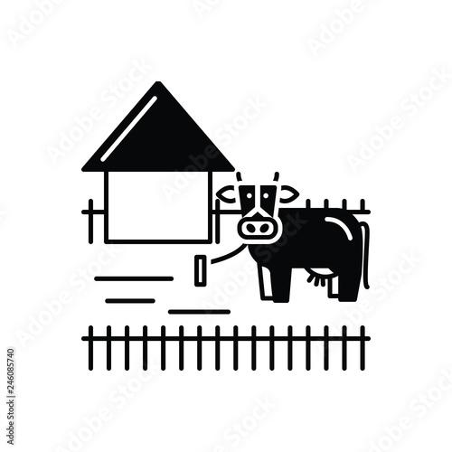 Fotografie, Obraz  Black solid icon for Ranching