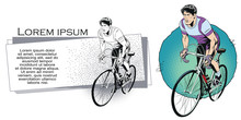 Cyclist. Stock Illustration. P...