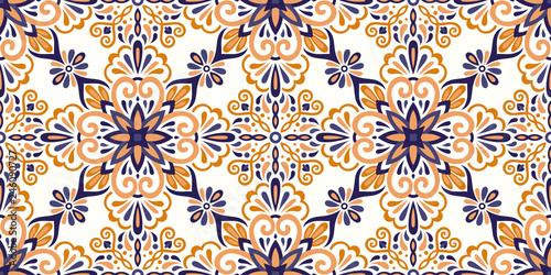 Fotografie, Obraz  Ethnic style seamless pattern
