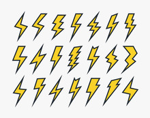 Set Of Lightning Vector Icons ...