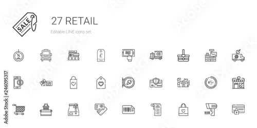 Fotografía  retail icons set