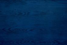 Blue Dark Wood Texture Or Background