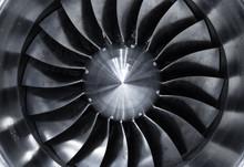 Jet Engine, Turbine Blades Of Airplane