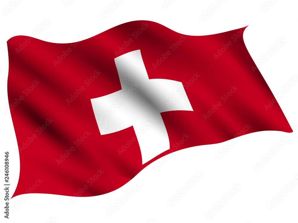 Fototapeta スイス  国 旗 アイコン