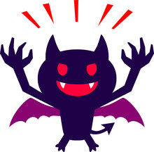 かわいい悪魔のキャラクター