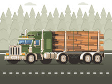 Logging Truck Or Timber Lorry ...