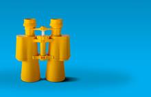 Yellow Binoculars Isolated On ...