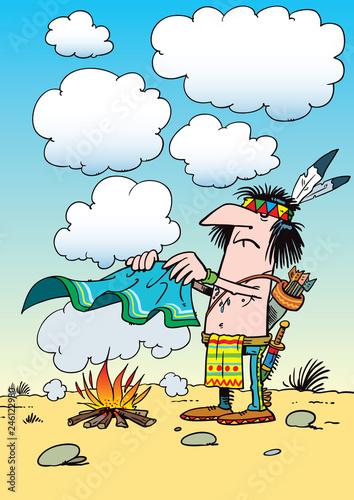 Indian smoke signals Fototapete