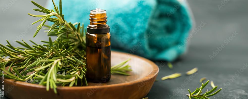 Fototapety, obrazy: Spa still life with rosemary oil