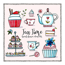 Tea Time Hand Drawn Collection