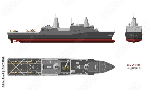 Detailed image of military ship Canvas Print
