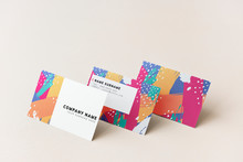 Colorful Business Cards Mockup Design