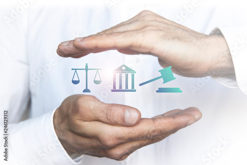Photo mani, sovrapposte, legale, assicurazione, protezione,