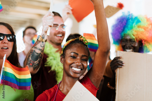 Photo  Cheerful gay pride and lgbt festival