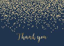 Golden Confetti Thank You Card...