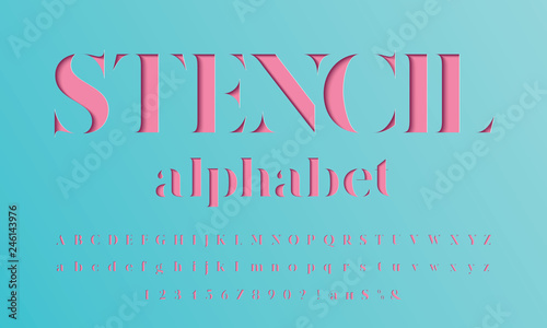 Papel de parede Color paper cut alphabet design