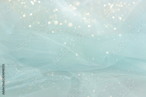 Valokuvatapetti Vintage tulle chiffon texture background. wedding concept.