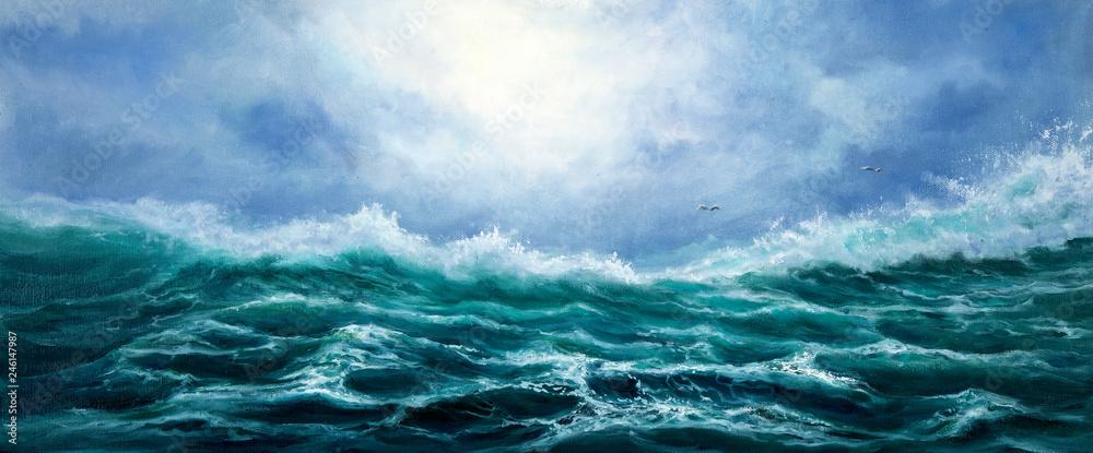 Fototapety, obrazy: Ocean waves
