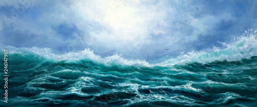 Cadres-photo bureau Abstract wave Ocean waves