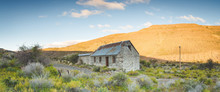 Wide Angle View Of An Old Abandoned Building In The Karoo Region Of South Africa