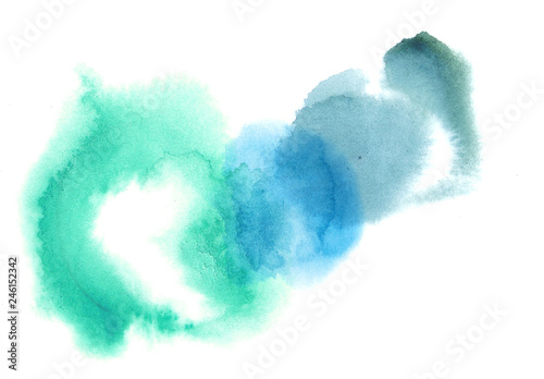 Photo Wet colourful water color grunge spots illustration elements with copy space
